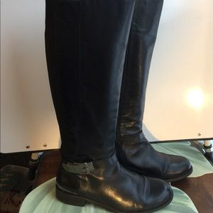 VINCE CAMUTO BLACK LEATHER RIDING BOOTS SIZE 10M